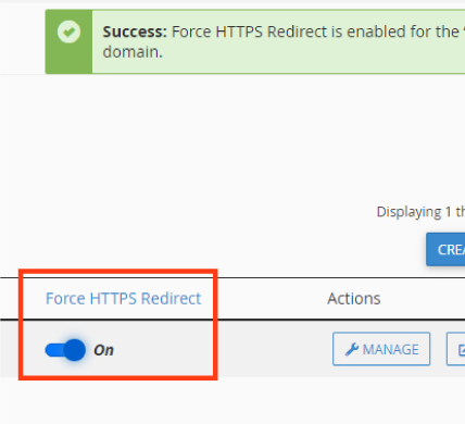 Force HTTPS Redirect
