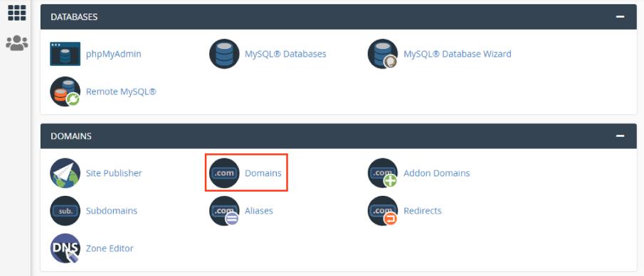 Domains en cPanel
